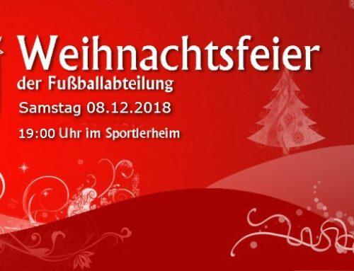 Weihnachts- und Jahresabschlussfeier der Fußballabteilung